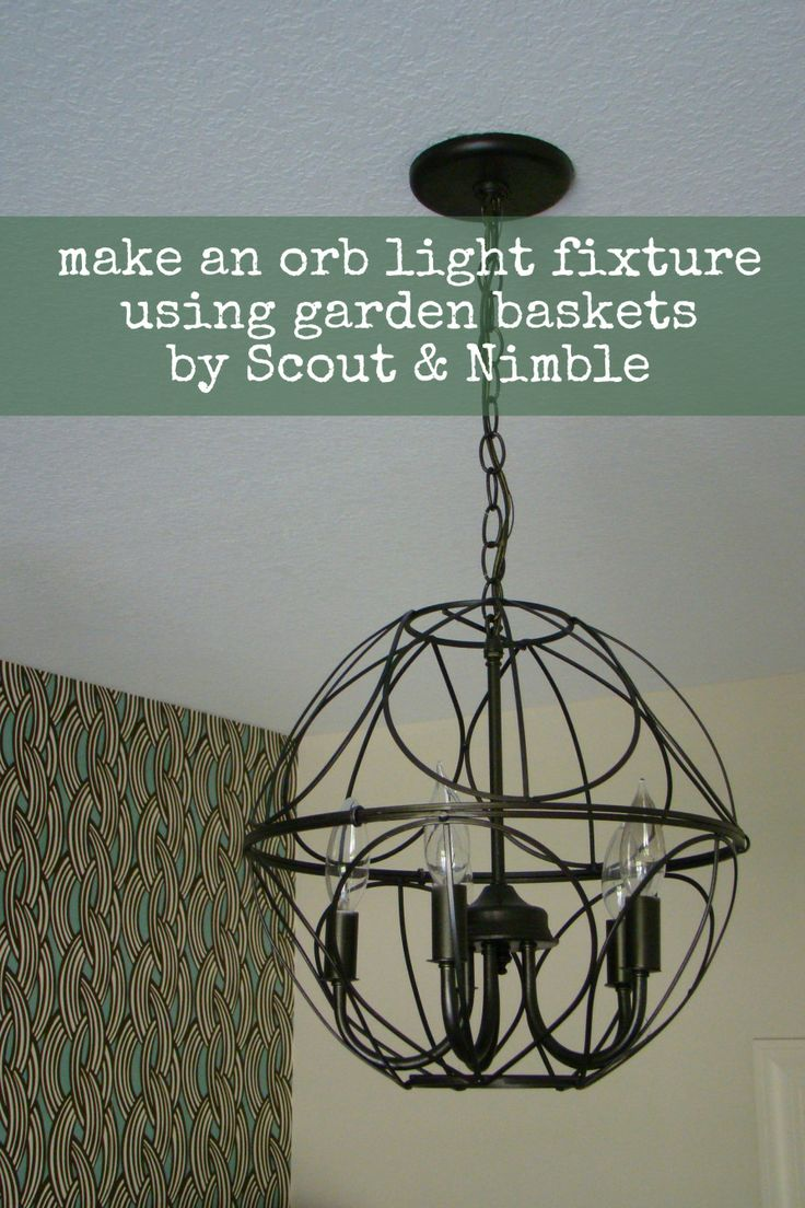 Diy orb light fixture diy pinterest for Homemade light fixtures ideas