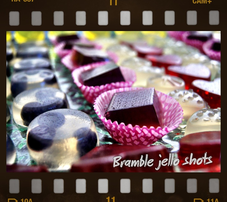 Bramble Jello Shots. Open jello shot bar?