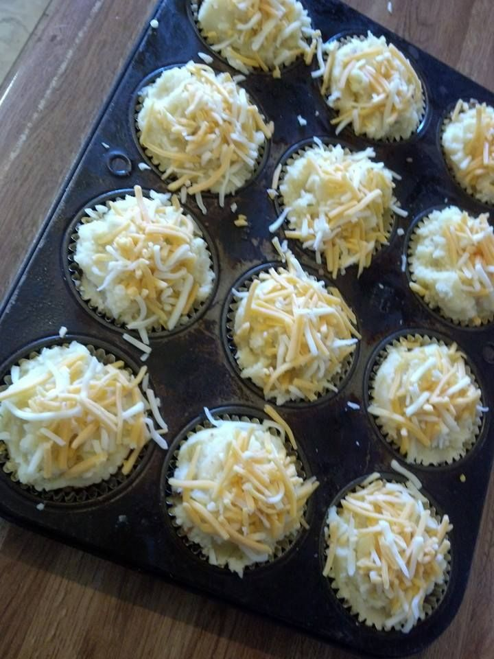 Pie Minis Layer in Foil Muffin TIns: ~Seasoned & Browned Ground Beef ...