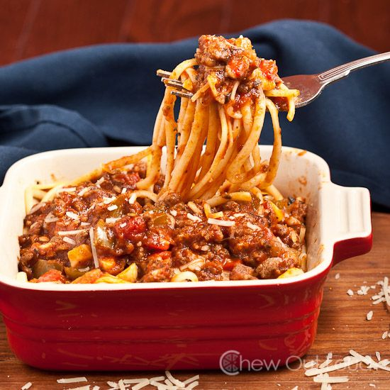 Chunky Sausage and Vegetable Pasta Sauce - simple, flavorful comfort ...