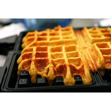 Pumpkin Waffles via smittenkitchen #Pumpkin #Recipes