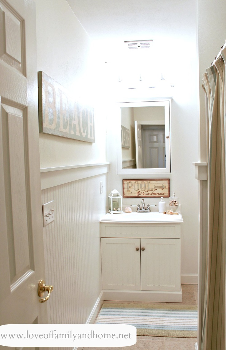 Powder Room Beadboard And Moulding Home Decor Ideas Pinterest