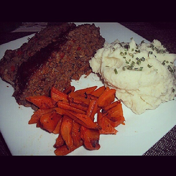 cajun style meatloaf with garlic mashed potatoes and brown sugar ...