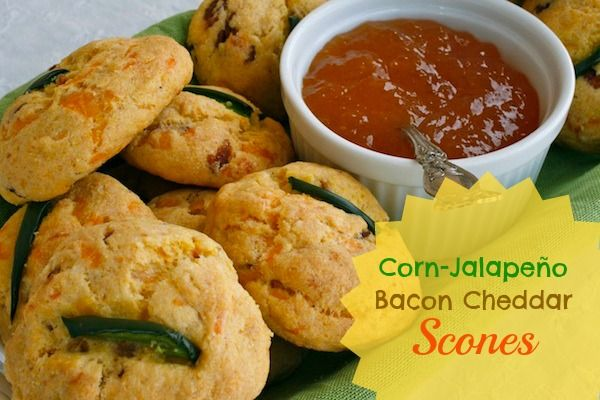 More like this: scones , bacon and jalapeno corn .