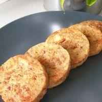 Serviettenknoedel - German bread dumpling boiled in a cloth napkin and ...