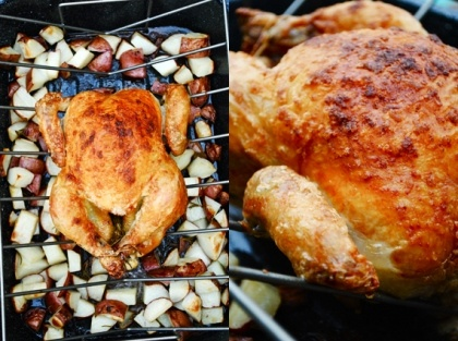 Crispy Skinned Chicken with Rosemary Potatoes