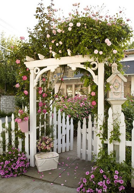 trellis gate ArborGateFence Pinterest