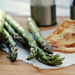 Grilled Crepes with Mozzarella and Shaved Asparagus