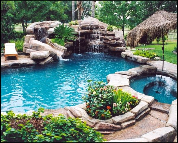 Pool landscaping ideas houston pools pinterest for Pool landscaping ideas