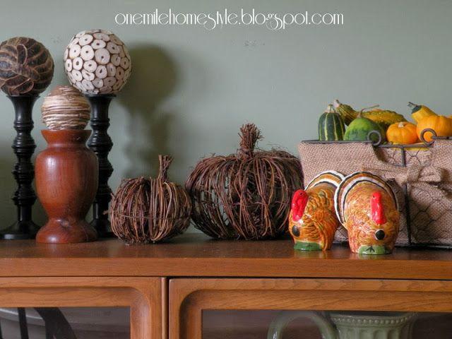 Fall Pumpkins and Thanksgiving Turkeys