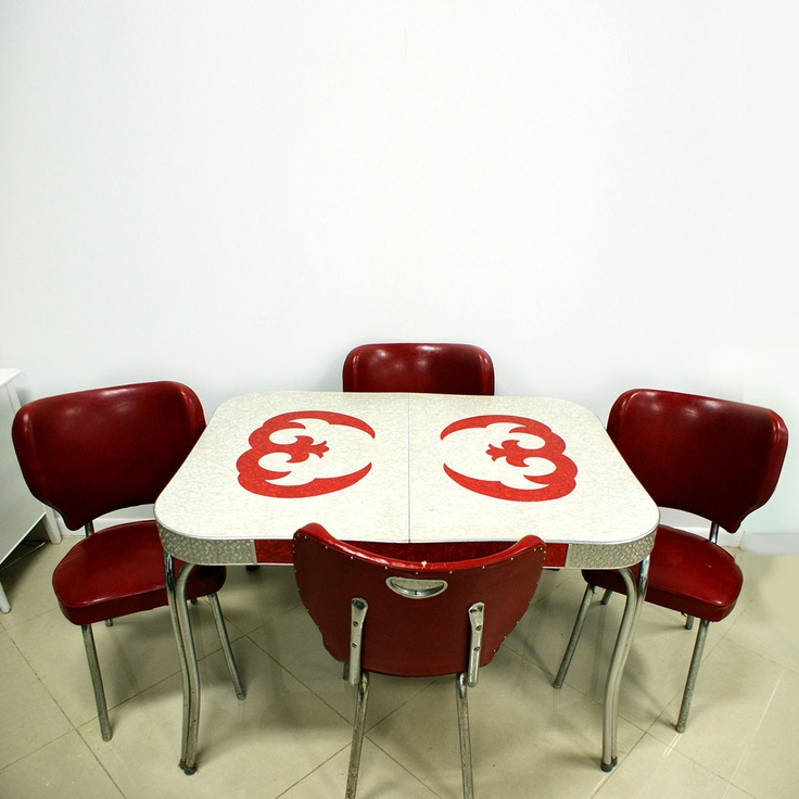 50s diner table and chairs