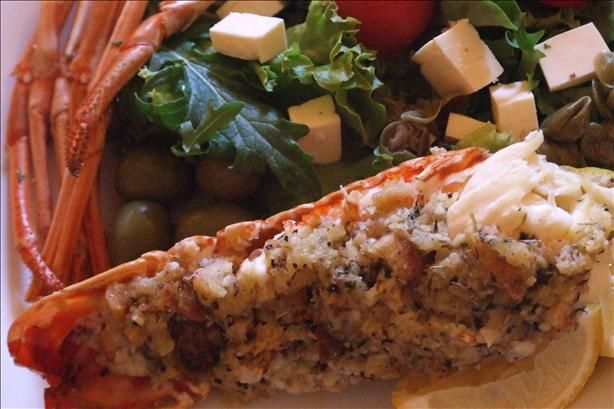 Baked Stuffed Lobster Tails from Food.com: This recipe can be made in ...