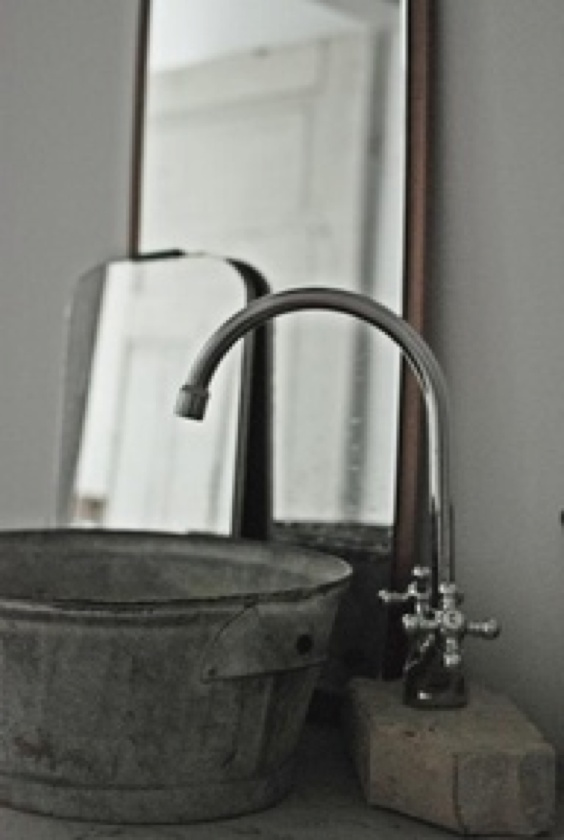 Sink made from galvanized tub barn bathroom pinterest