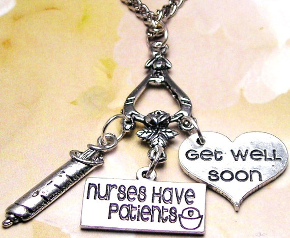 Nurse collection charm holder with 3 charms by mytinytemptations 19