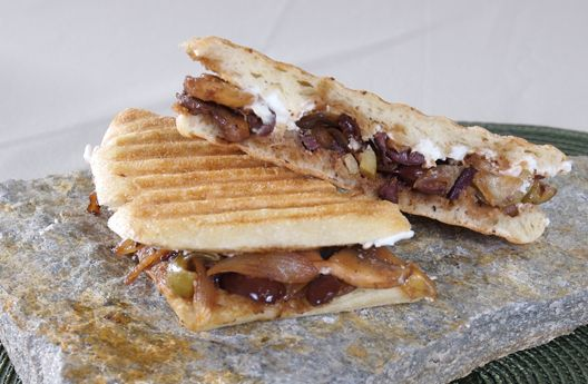 Mixed Olive and Goat Cheese Panini | Veggie Bags & Buns | Pinterest