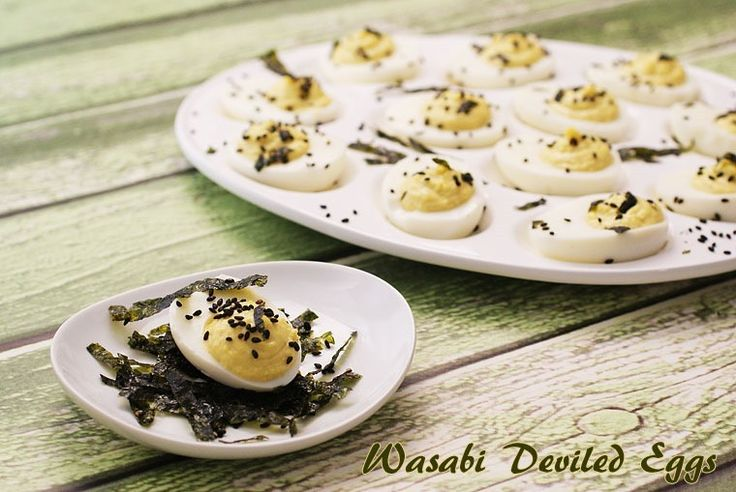 Great for a party! Wasabi Deviled Eggs at This Mama Cooks! On a Diet ...
