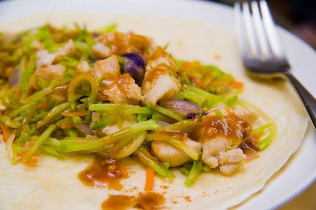 Thai Chicken Wraps with Peanut Sauce | Kitchen Wizard | Pinterest