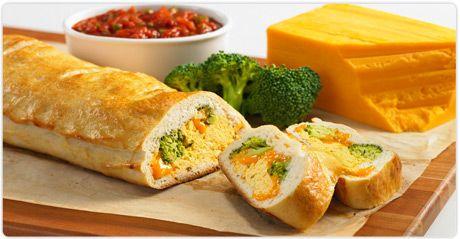 Broccoli & Cheddar Scramble Stromboli - combine everyone's fave take ...