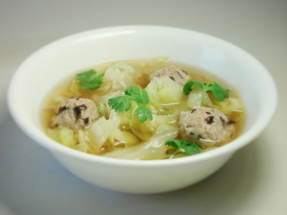 Cabbage Soup with Pork Dumplings | All Things Khmer! | Pinterest