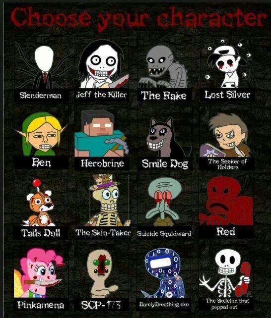 Creepypasta characters creepypasta characters