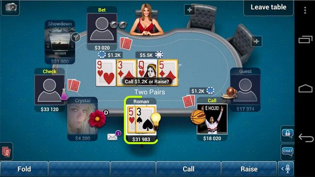 best poker apps games android