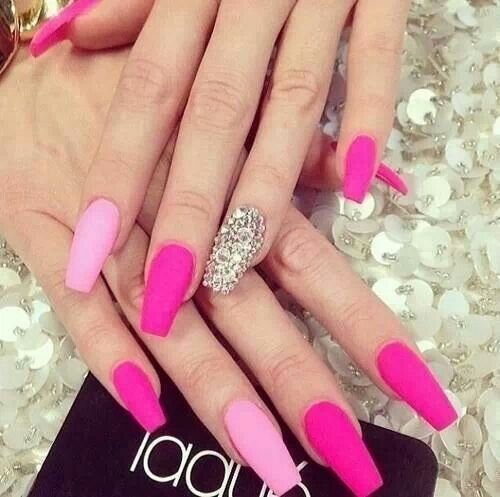 Acrylic Nails Coffin Shape Coffin Shaped Nails Pink