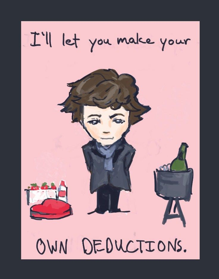 Sherlock Valentine's Day Cards