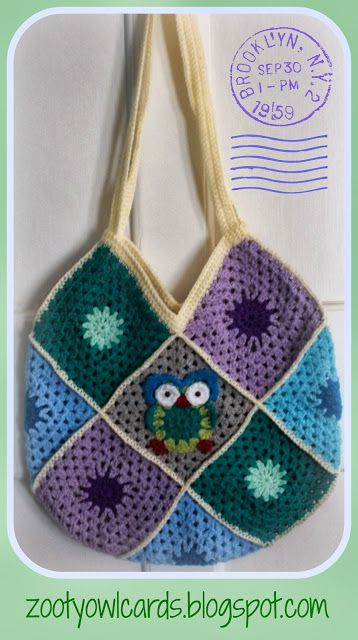 Granny Square Bag Free Pattern : Granny Square Bag Crochet, Crafts, and Fun Pinterest