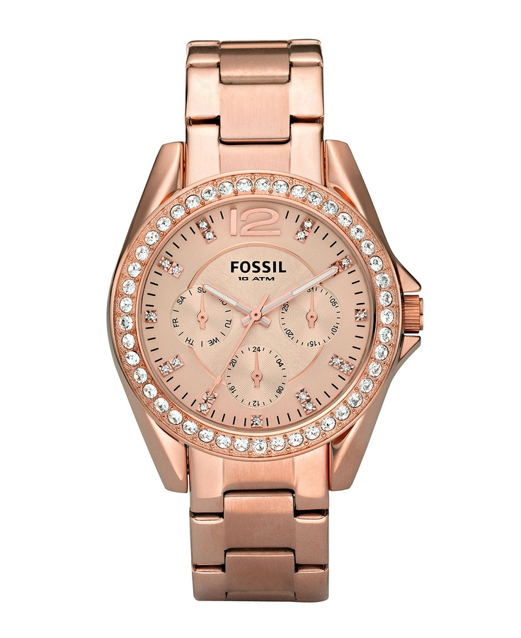 fossil s gold plated stainless steel