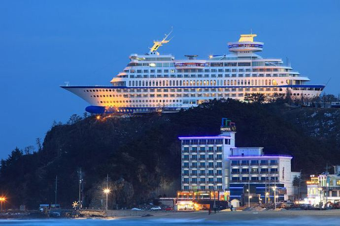 The Sun Cruise Hotel In South Korea Awesome Destinations Pinterest