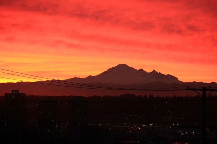 Mt Baker sunrise