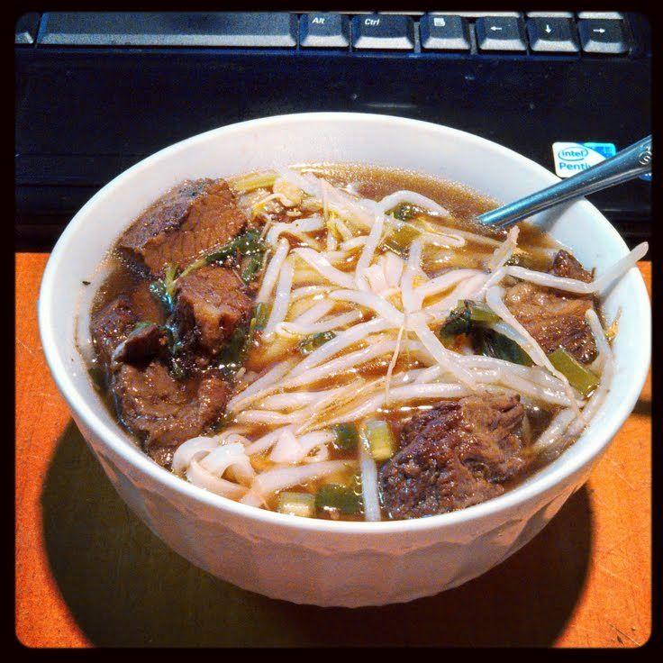 "Thai Beef Noodle Soup! ""Originally included 8oz sliced mushrooms but I ..."