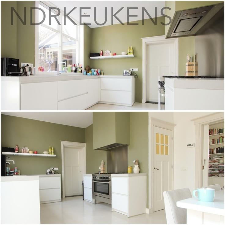 Keuken Olijfgroen : Greeploos keuken met fornuis NDR Keukens Pinterest