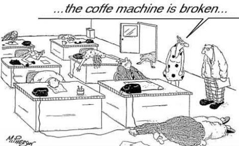 The coffee machine is broken :O #coffee