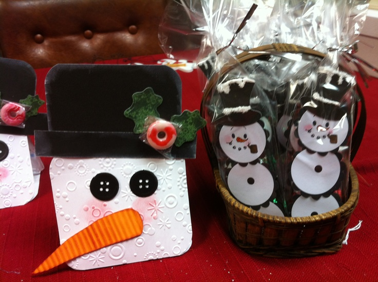 Hot Chocolate Snowman treat package with hot chocolate package ...
