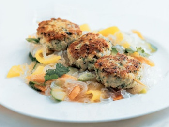 """Simple Recipe """"Asian Chicken and Water Chestnut Patties"""" from Cooks..."""