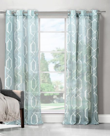 light blue curtains in dining room living room remodel pinterest