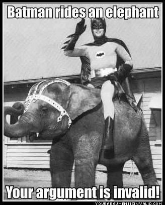 My favorite super hero on my favorite animal! FOR THE WIN!!!