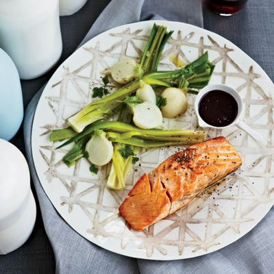 Salmon with Red Wine–Balsamic Sauce #easyandelegant #saucy #butter!