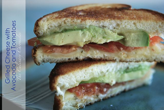 Grilled Cheese with Avocado & Tomatoes by The Culinary Chronicles, via ...