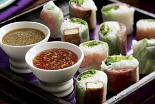 Ginger-Sesame-Tofu Summer Rolls — Recipe from Fine Cooking