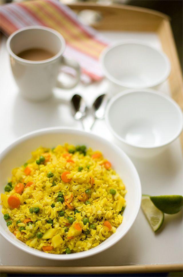 Vegetable Poha | Vegetable Delights | Pinterest