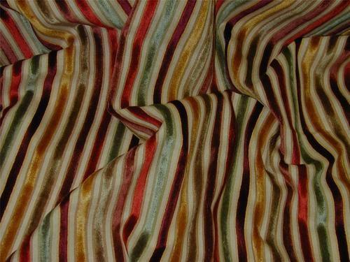 Curtain Fabric Upholstery Verona Velvet Stripe Red Green Wine Gold ...