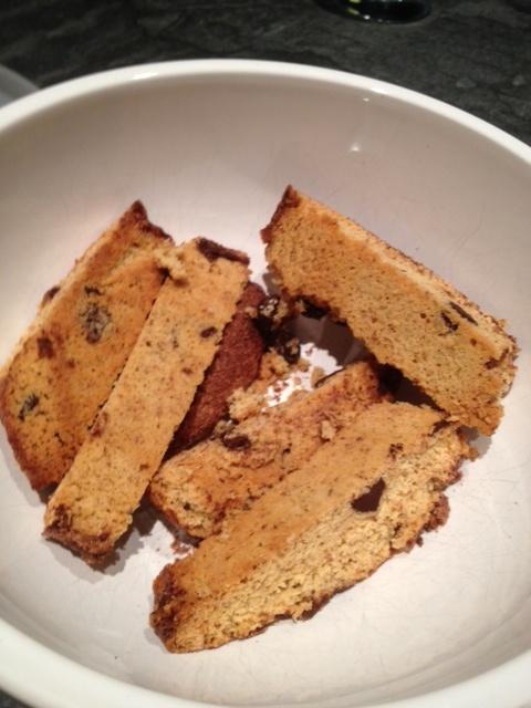 More like this: dark chocolate chips , biscotti and gluten free .