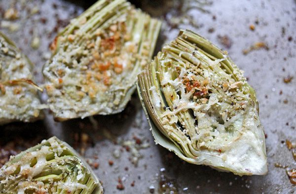 Roasted Baby Artichokes with Garlic Lemon Aioli | What's Cooking Good ...