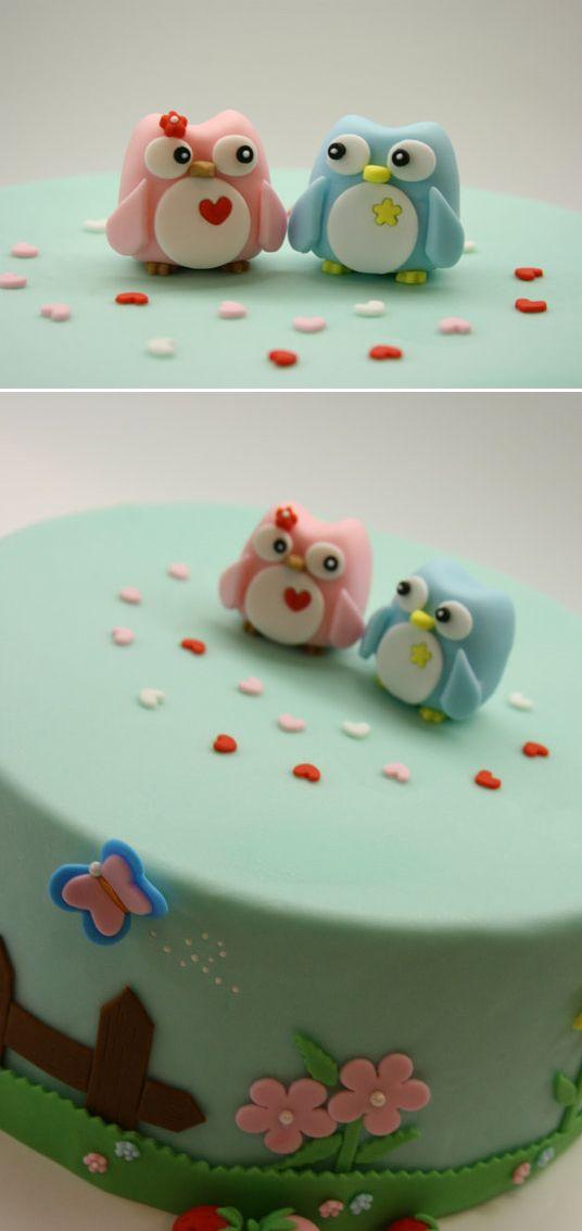Loving Owls Cake