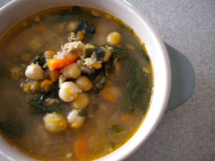 Hearty Chick Pea and Greens Soup | Recipe