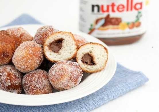 Nutella Filled Doughnuts Recipe — Dishmaps