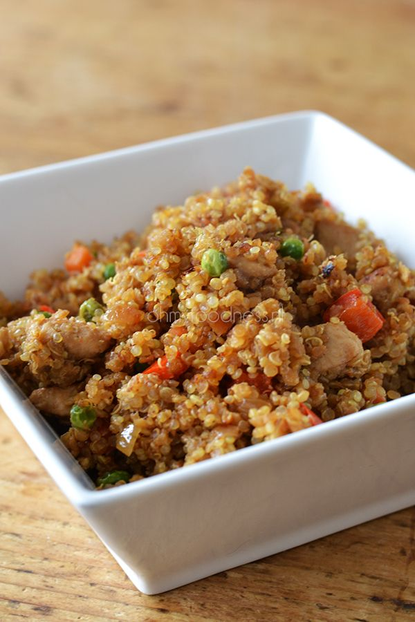Quinoa Fried Rice   empty the plate & bottums up!   Pinterest