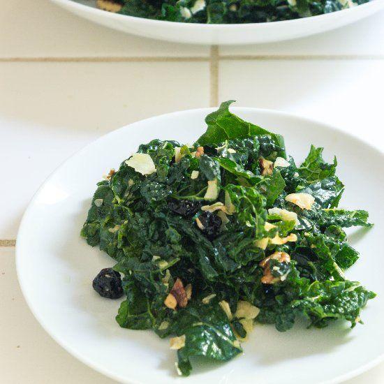 Chef Jamie Levine's Kale Salad w/ Coconut, Pecans & Cherries.